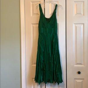Arden B emerald green silk dress, size small